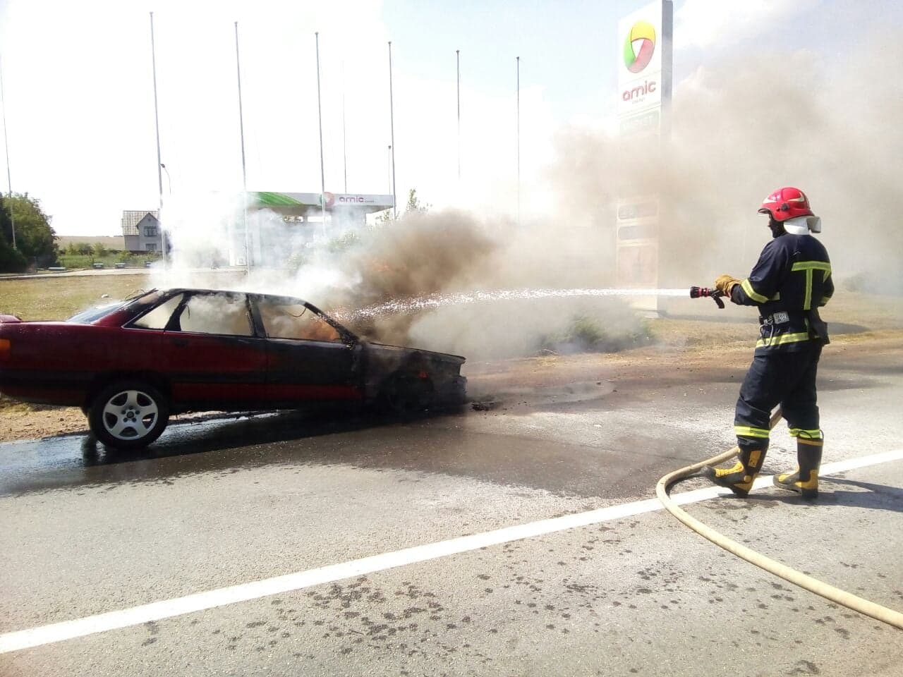 Пожежа авто Атаки 2